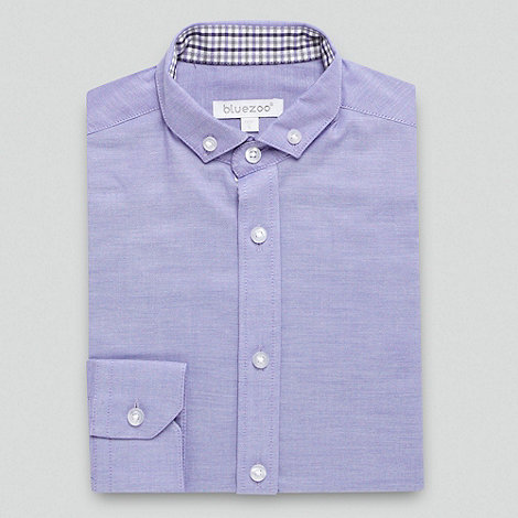 bluezoo - Boy+s lilac oxford shirt