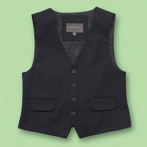 RJR.John Rocha - Designer boy+s navy smart waistcoat