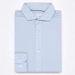bluezoo - Boy's blue textured striped shirt