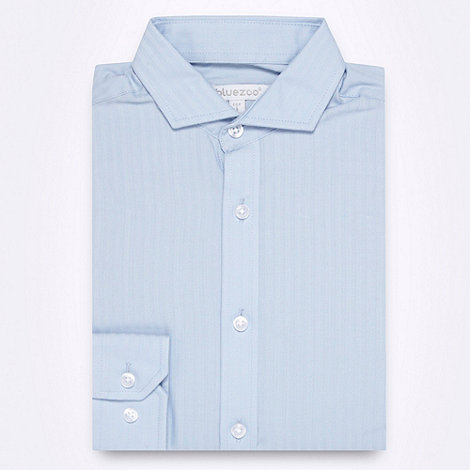 bluezoo - Boy+s blue textured striped shirt