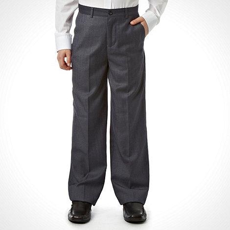 RJR.John Rocha - Designer boy+s grey pinstriped trousers