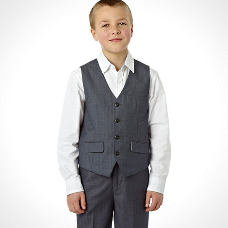 RJR.John Rocha - Designer boy+s dark grey pinstriped waistcoat
