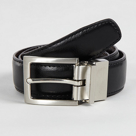 bluezoo - Boy's black reversible buckle belt