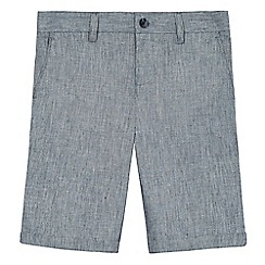 RJR.John Rocha - Boys' grey textured linen blend shorts