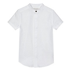 RJR.John Rocha - Boys' white textured grandad shirt