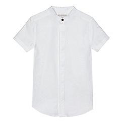 RJR.John Rocha - Boys' white textured granddad shirt