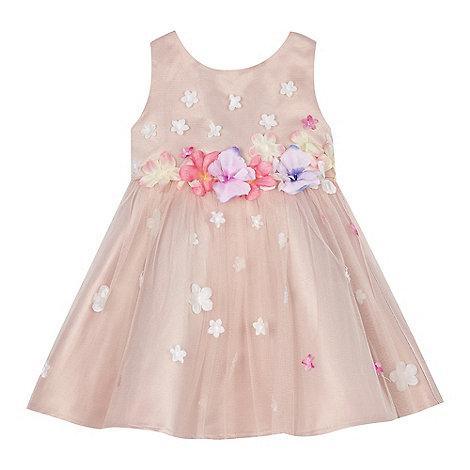 RJR.John Rocha - Baby girl+s pink 3D floral dress