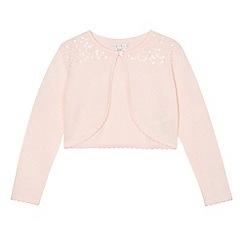 RJR.John Rocha - Girls' pink embellished cardigan
