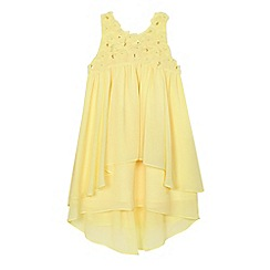 RJR.John Rocha - Girls' yellow tiered chiffon dress