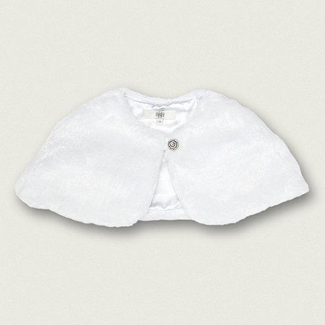 Pearce II Fionda - Designer girl+s white faux fur shrug
