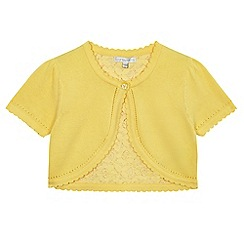RJR.John Rocha - Girls' yellow lace trim cardigan