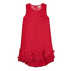 RJR.John Rocha - Girls' dark pink pleated flower dress