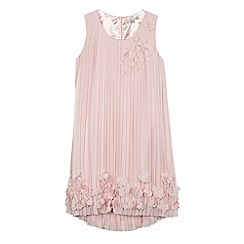 RJR.John Rocha - Girls' light pink pleated flower dress