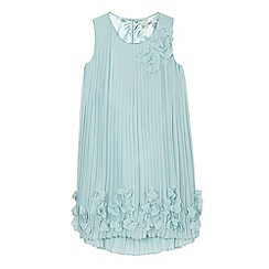 RJR.John Rocha - Girls' light blue pleated flower dress