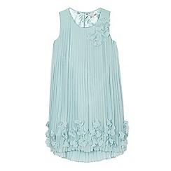 RJR.John Rocha - Girls' light blue pleated flower dress