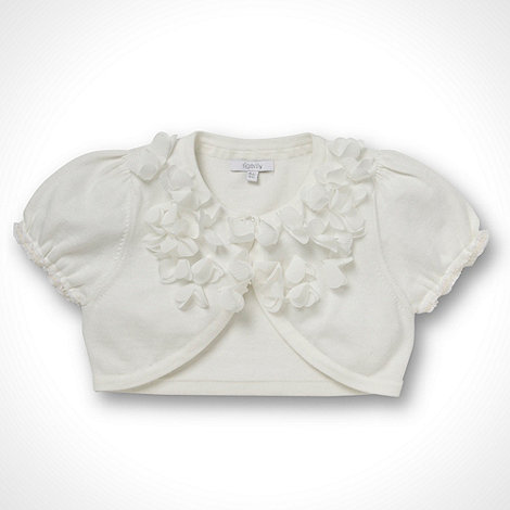 Tigerlily - Girl+s ivory flower cardigan