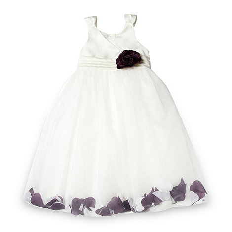 Tigerlily - Girl+s plum floating petal skirt occasion dress