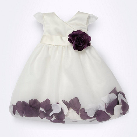 Tigerlily - Baby+s white floating petal skirt occasion dress