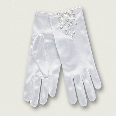 Debenhams - Girls+ white special occasion gloves