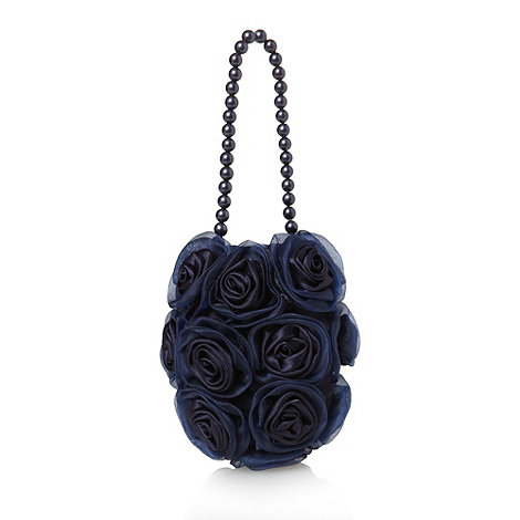 Debenhams - Girl+s navy rosebud bag