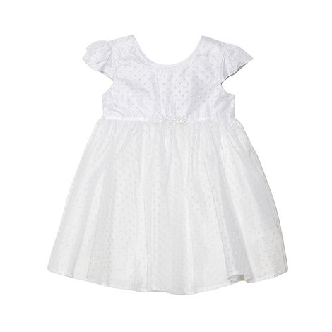 Debenhams - Baby+s white mini spot dress