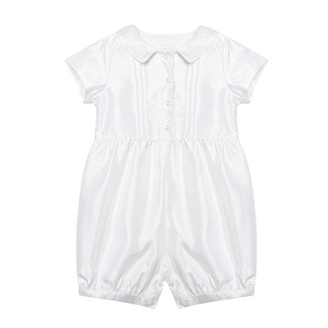 Debenhams - Baby's white satin romper suit
