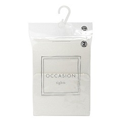 Debenhams - Girl's pack of two ivory tights