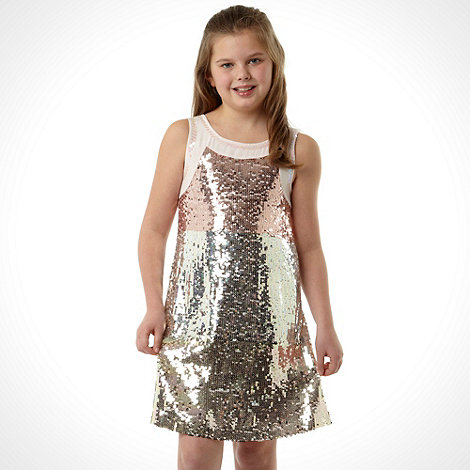 Butterfly by Matthew Williamson - Designer girl's gold sequin shift dress