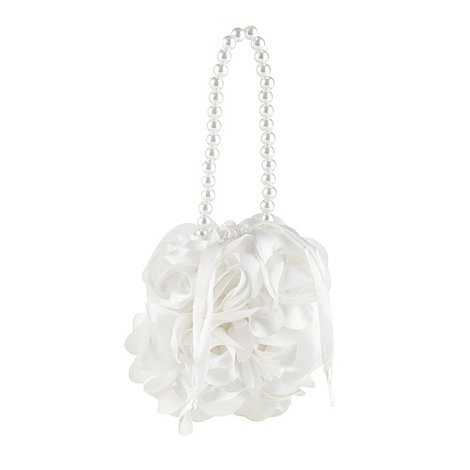 Debenhams - Girl+s ivory rosebud dolly bag