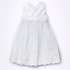 Debenhams - Baby's white corsage lace dress