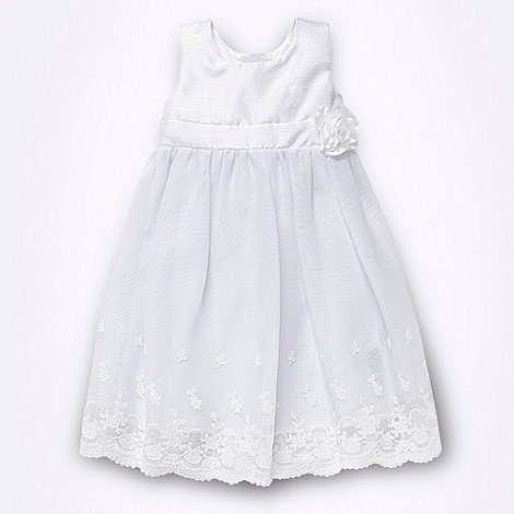 Debenhams - Baby+s white corsage lace dress