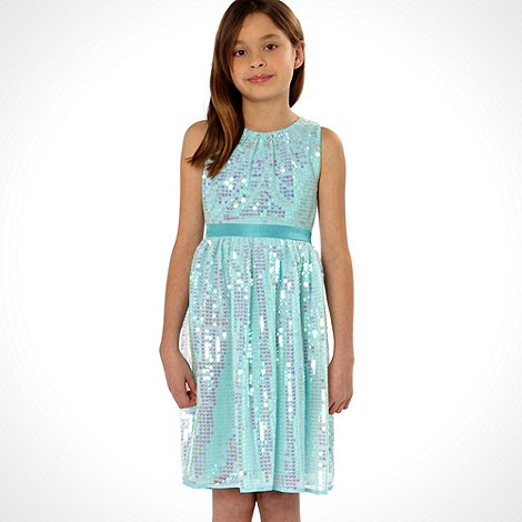 Butterfly by Matthew Williamson - Designer girl+s light blue sequinned dress