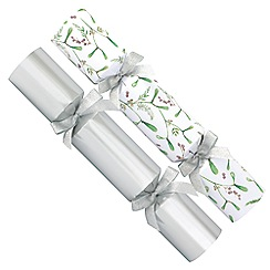 Debenhams - 12 Silver Mistletoe Christmas Crackers