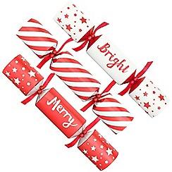 Debenhams - 12 Red Merry And Bright Christmas Crackers