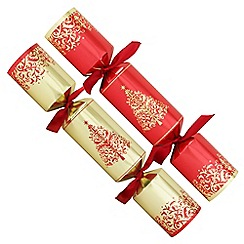 Debenhams - 12 Red And Gold Trees Christmas Crackers