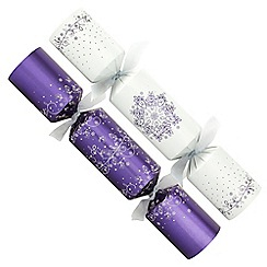Debenhams - 12 Purple Christmas Crackers