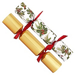 Debenhams - 12 Red And Gold Holly Christmas Crackers