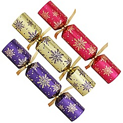 Debenhams - 12 Snowflake Christmas Crackers