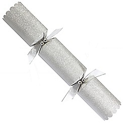 Debenhams - 6 Designer Silver Glitter Christmas Crackers