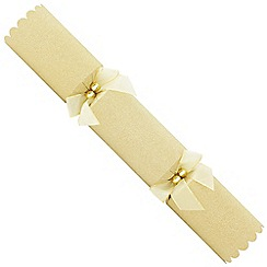 Debenhams - 6 Designer Gold Glitter Christmas Crackers