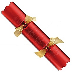Debenhams - 6 Deluxe Red Christmas Crackers