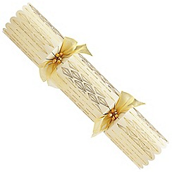 Debenhams - 6 Deluxe Cream And Gold Christmas Crackers