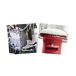 Debenhams - Pack of 30 winter photograph charity Christmas cards