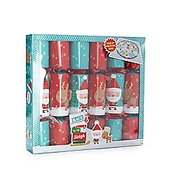 Debenhams - Set of six Christmas crackers with wind-up game