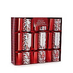 Debenhams - Set of 12 holly print luxury Christmas crackers