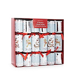 Debenhams - Set of 12 reindeer luxury Christmas crackers