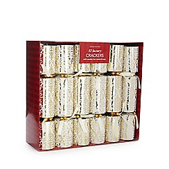 Debenhams - Set of 12 damask luxury Christmas crackers