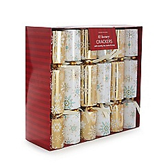 Debenhams - Set of 12 snowflake luxury Christmas crackers