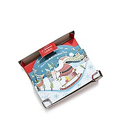 Debenhams - Set of five 3D Santa on sleigh Christmas cards