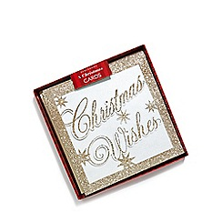 Debenhams - Set of eight 'Christmas Wishes' cards